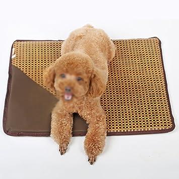 Estera para perro Perrera para gatos de verano Estera para perros grande Resistencia para almohadillas para picar cama para mascotas Almohadilla para hielo ...