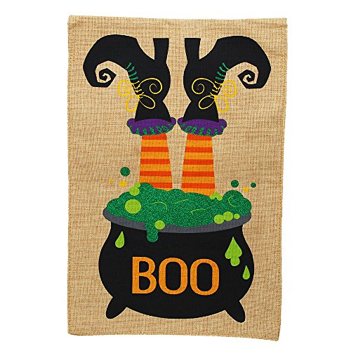 Morigins Halloween Witch Feet Decorative Double Sided Garden