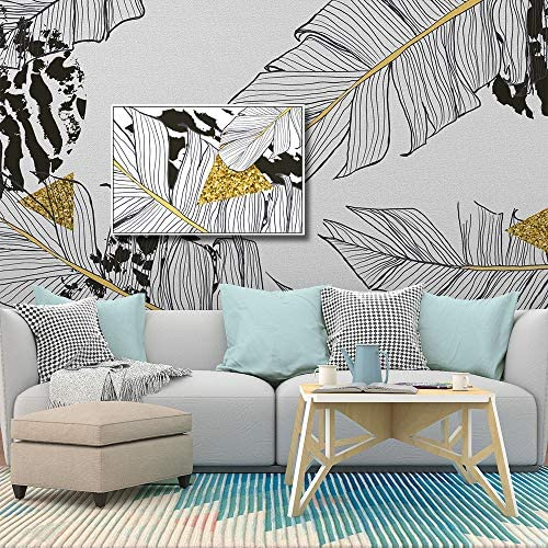 Framed for Living Room Bedroom Tropical Leafs Theme for