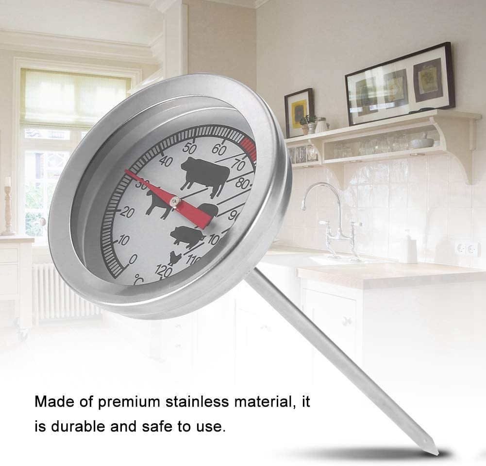 termometro da cucina con sonda per accessori per barbecue da casa Termometro per barbecue in acciaio inossidabile