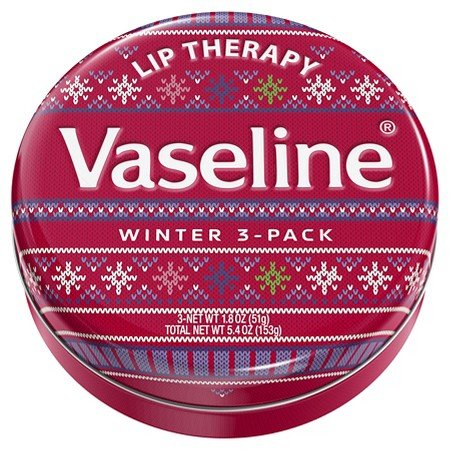 Vaseline Holiday Lip Tin Winter Red 1.8 oz 3 Pack