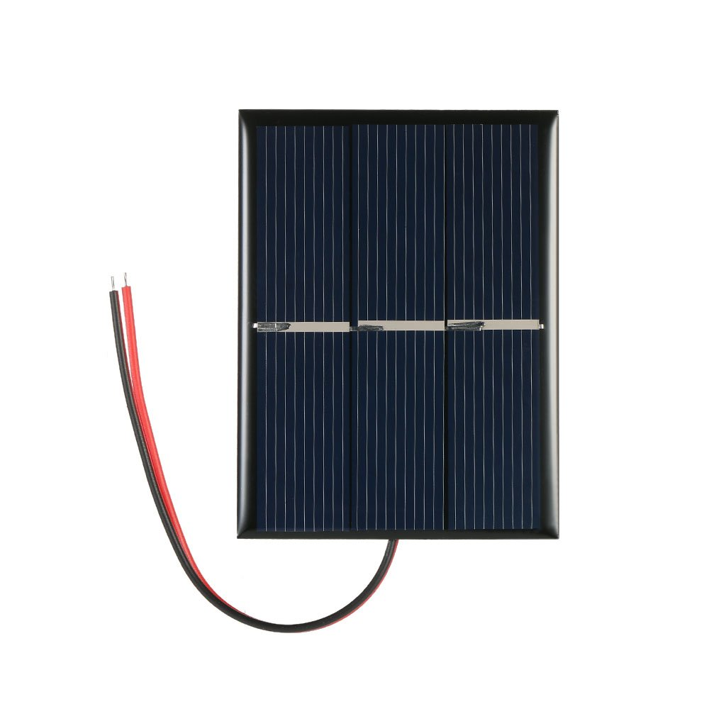 Decdeal 0.65W 1.5V Polycrystalline Silicon Solar Panel Solar Cell for DIY Power Charger 60*80mm H19074-NY3IHK