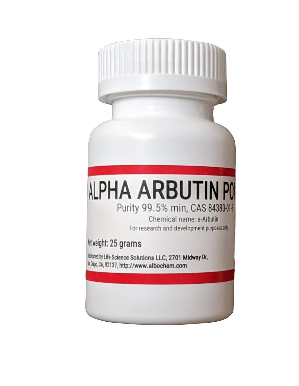 Pure Alpha-Arbutin Powder, 25 grams
