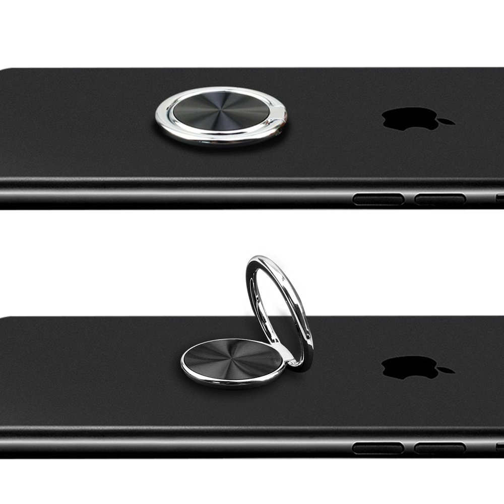 Handy Ringhalter, TUCNIPUS 360°Auto Finger Ring Stand Holder, Smartphone Griff Halter für iPhone 7 Plus / 7 / 6S/ 6 , Samsung Galaxy S8 / S8 Plus S7 edge, und Alle Andere Smartphones -Silber