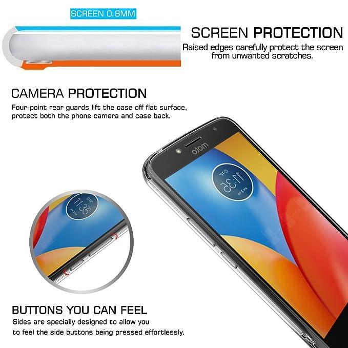 LeYi Funda Motorola Moto E4 Plus Silicona Purpurina Carcasa con HD Protectores de Pantalla,Transparente Cristal Bumper Telefono Gel TPU Fundas Case Cover ...