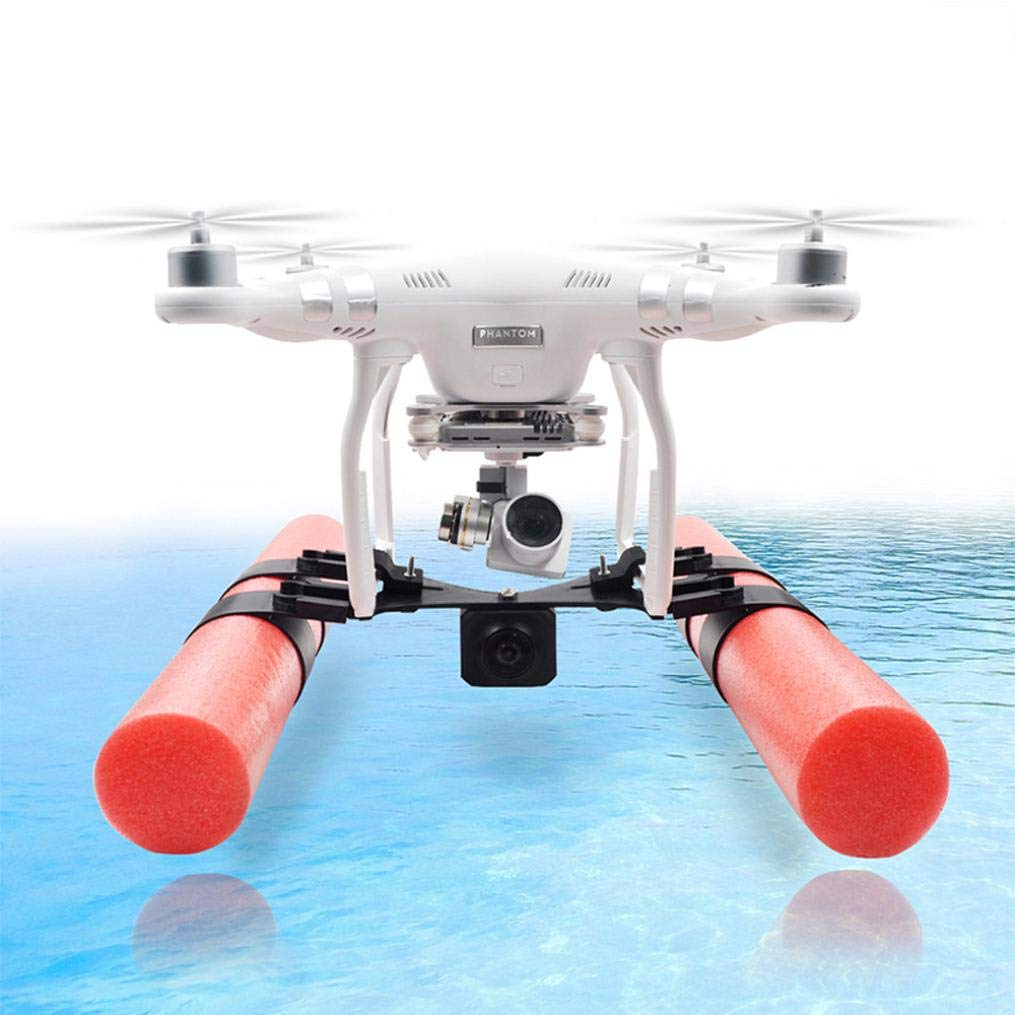 Compatible DJI Phantom 3/4 Drone Floating Landing Gear Waterproof Landing Gear Bracket Holder + Floating Sticks for Shooting Over Swimming Pool River Lake Ocean or More