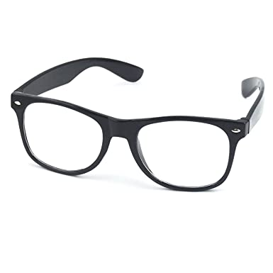 TRIXES Geek Glasses Clear Lens Nerd Party Retro Vintage Frames ...