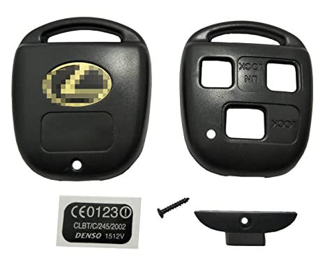 Casing Only Replacement Key Fob Shell Case Fit for Lexus Keyless Entry Remote Car Key Fob Cover Casing