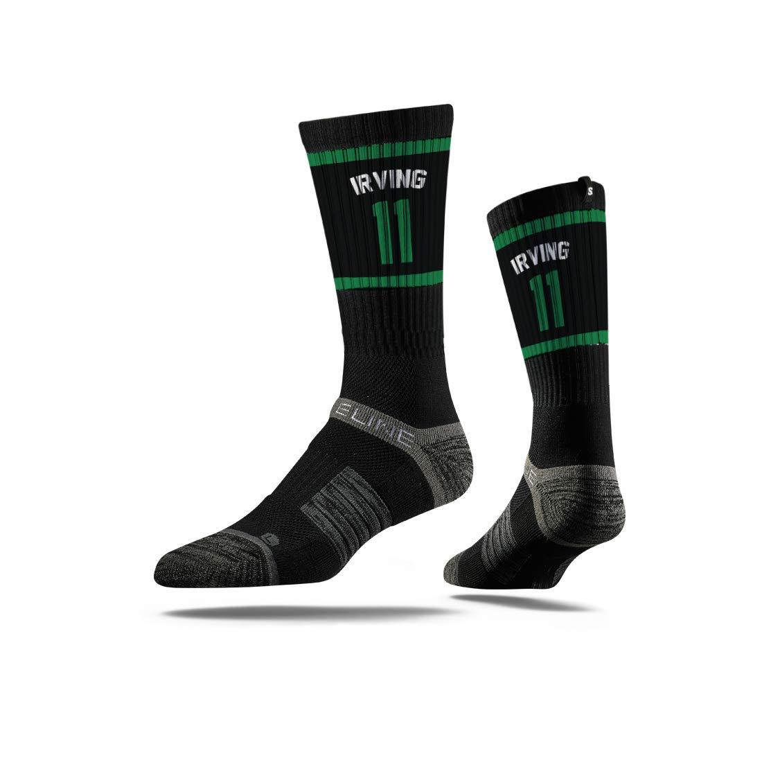 f1e6011efdd96 Kyrie Irving #11 Boston Celtics Adult Black Strideline Socks at ...