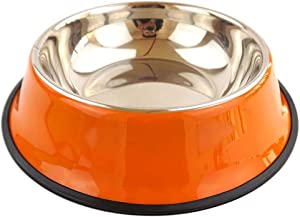 Stainless Steel Pets Dog Bowl Travel Food Bowls for Cats Dogs,Burgundy