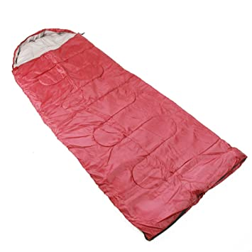4 temporada ligero saco de dormir para acampar al aire libre Viajes, rojo: Amazon.es: Deportes y aire libre