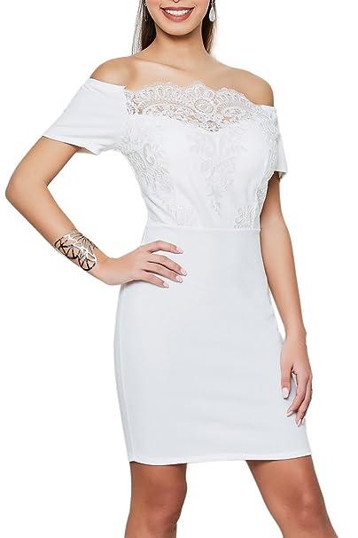 Vestido ajustado en blanco