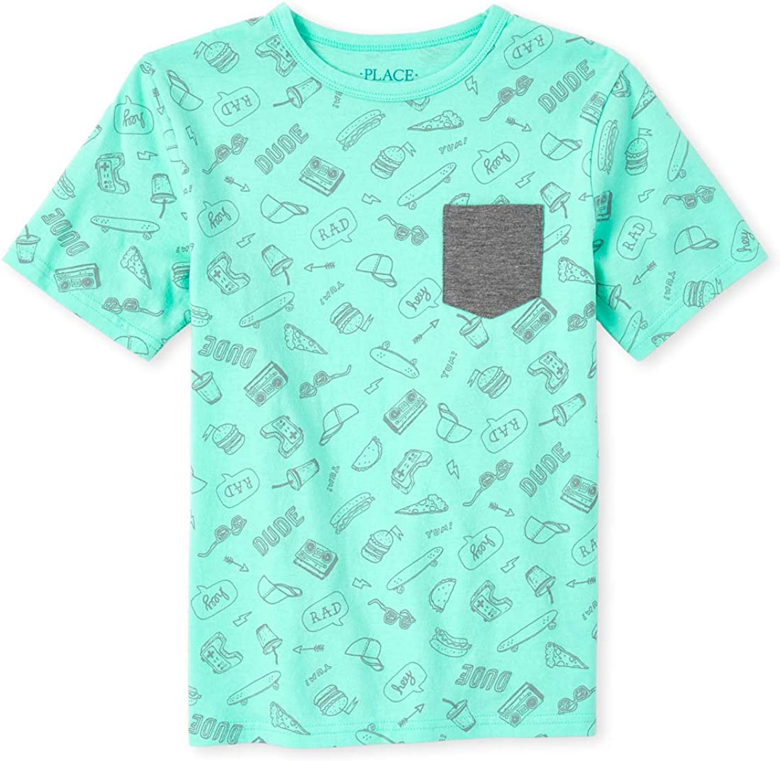 The Children's Place Boys' Food Pocket Top