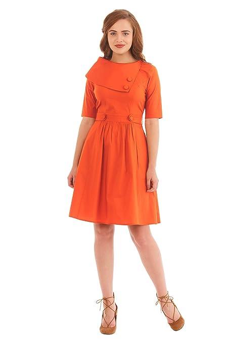 1960s Dresses | 60s Dresses Mod, Mini, Jakie O, Hippie eShakti Womens Asymmetric Collar Stretch Cotton poplin Dress $59.95 AT vintagedancer.com