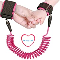 Baby Anti Lost Wrist Link Hand Belt Toddlers Safety Harness Leash Wristband for Kids and Parents (Pink)