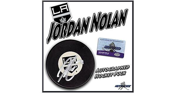 f459decb00e Jordan Nolan Autographed Hockey Puck - with