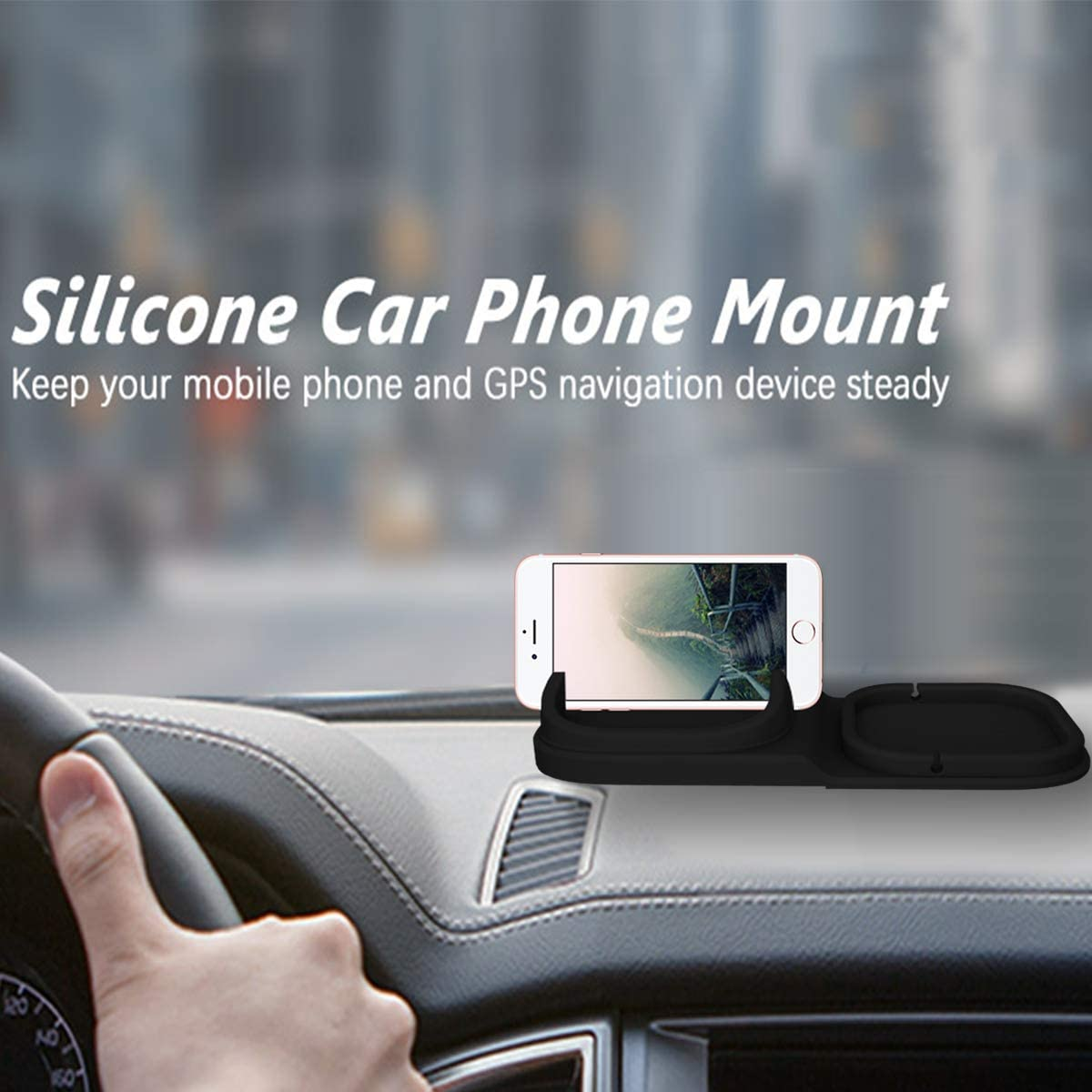 Car Phone Mount Silicone Car Pad Mat for Various Dashboards,Car Cell Phone Holder Hand Free for iPhone Samsung GPS Devices and More Android Smartphones Alquar Car Phone Holder Dashboard Anti-Slip