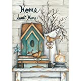 Home Sweet Home - Standard Size, Decorative Double Sided, Licensed and Copyrighted Flag - Printed IN USA by Custom Decor Inc. 28 Inch X 40 Inch approx.