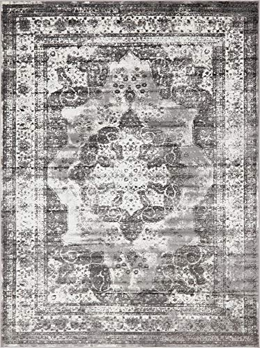 Unique Loom Sofia Collection Traditional Vintage Gray Area Rug (8' x 11') from Unique Loom