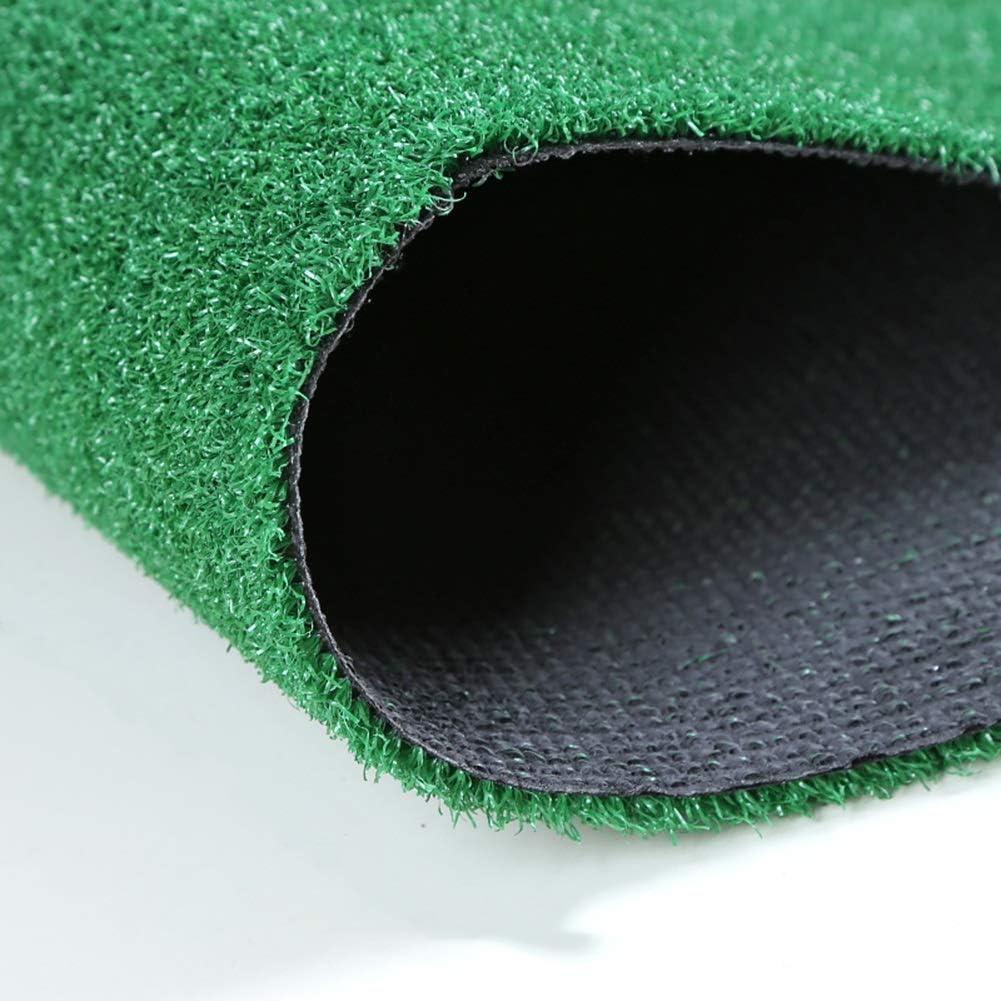 ALGWXQ 人工芝 ラバーバッキング 自動水浸透 パティオ 屋上 モール フェイクグラス、 緑、 2つの厚さ (Color : Green, Size : 2x25m 1cm)