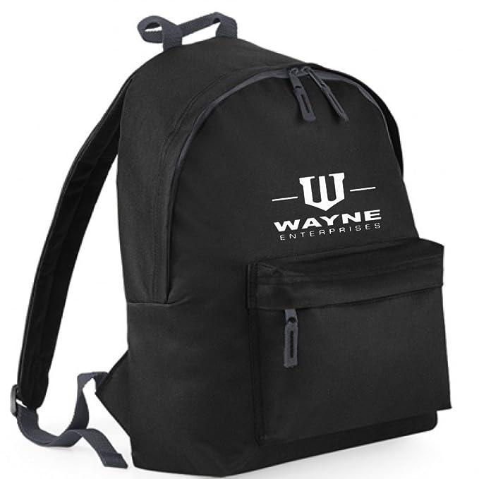 Inspirado en Wayne Enterprises Bate Mochilas de Bordado, Bolsas de Mochila Negro Negro Talla única: Amazon.es: Ropa y accesorios