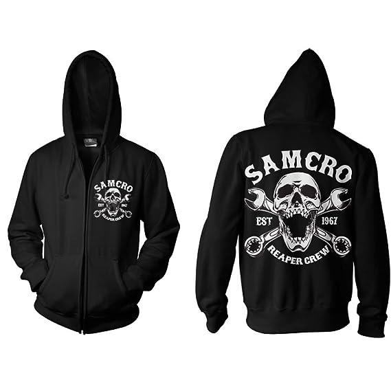0cf46663eab Sons of Anarchy Samcro Reaper Crew 1967 Zipped Hood  Amazon.co.uk  Clothing