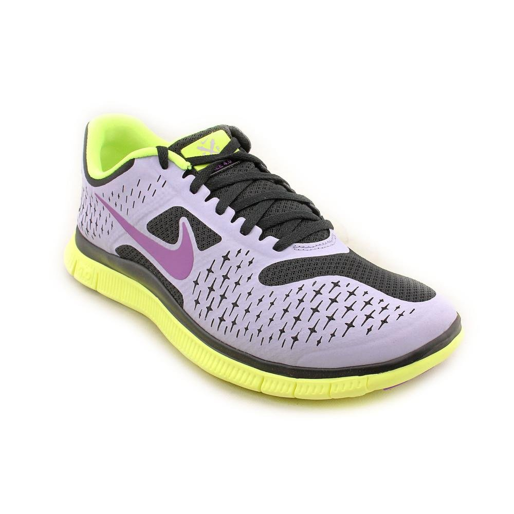 buy online 866ed 7be1b Nike Free 4.0 V2 Womens Purple Faux Leather Running Shoes ...