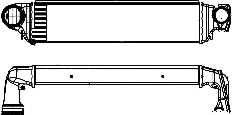 BEHR HELLA SERVICE 8ML 376 899-101 Radiador de aire de admisión