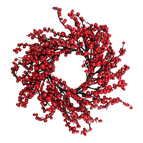 Northlight 16'' Festive Artificial Red Berries Christmas Wreath - Unlit by Northlight