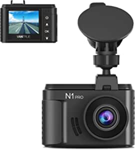 """Vantrue N1 Pro Full HD 1920X1080P Mini Dash Cam for Cars, 1.5"""" LCD Mini Car Dash Camera with Sony Sensor, Super Night Vision, Parking Mode, Cold-Resistance, Collision Detection, G-Sensor & Loop Recording, Support up to 256GB Card"""