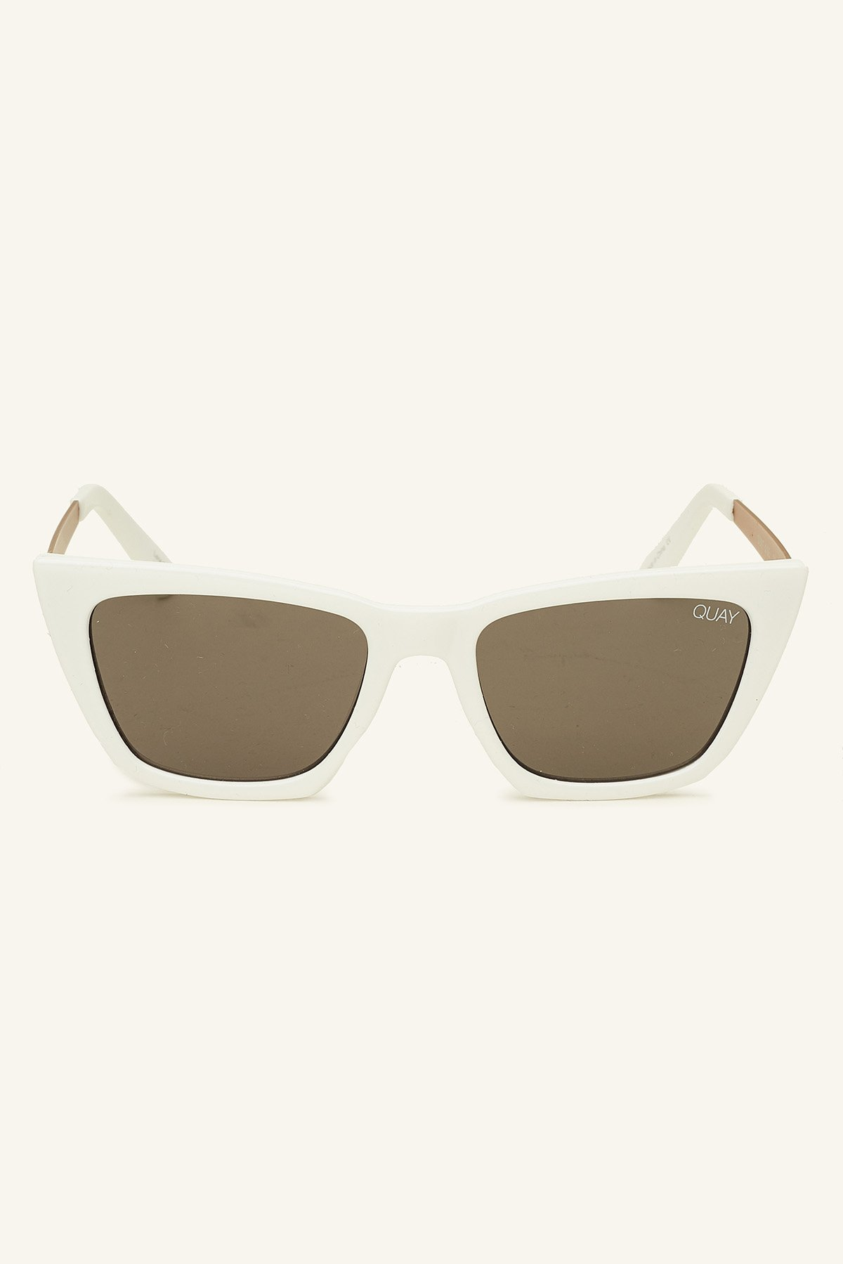 QUAY AUSTRALIA Women's #QUAYXDESI Don't @ Me White/Smoke One Size