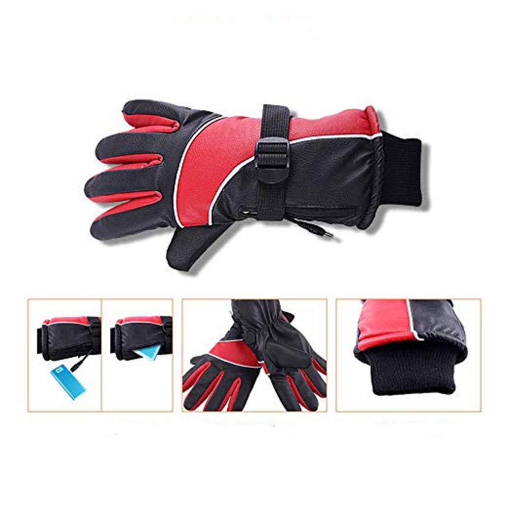 Beheizbare Fahrrad Motorrad Handschuhe mit wiederaufladbare Lithium-Ionen-Batterie Unisex Warme Winterhandschuhe Towinle USB Beheizte Handschuhe