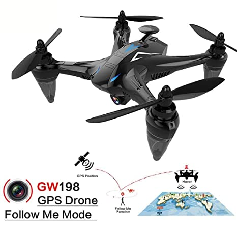 LENRUE [Drone Global] GW198 Gran Angular HD Cámara 5G WiFi Sígueme ...