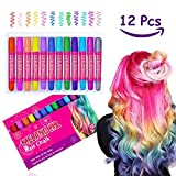 Hair Chalk, Meland 12 colors Non-Toxic Hair Dye Temporary Hair Chalk Pens Washes Out Easily With No Mess – Best Birthday Christmas Gifts Present for Girls Boys Age 4 5 6 7 8 9 10 years old
