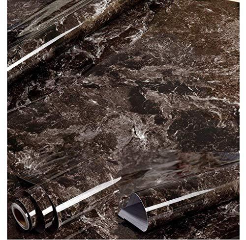 Amao Black Brown Granite Look Marble Effect Wallpaper Film Vinyl Self Adhesive Peel-Stick Counter Top 15.7''x79''