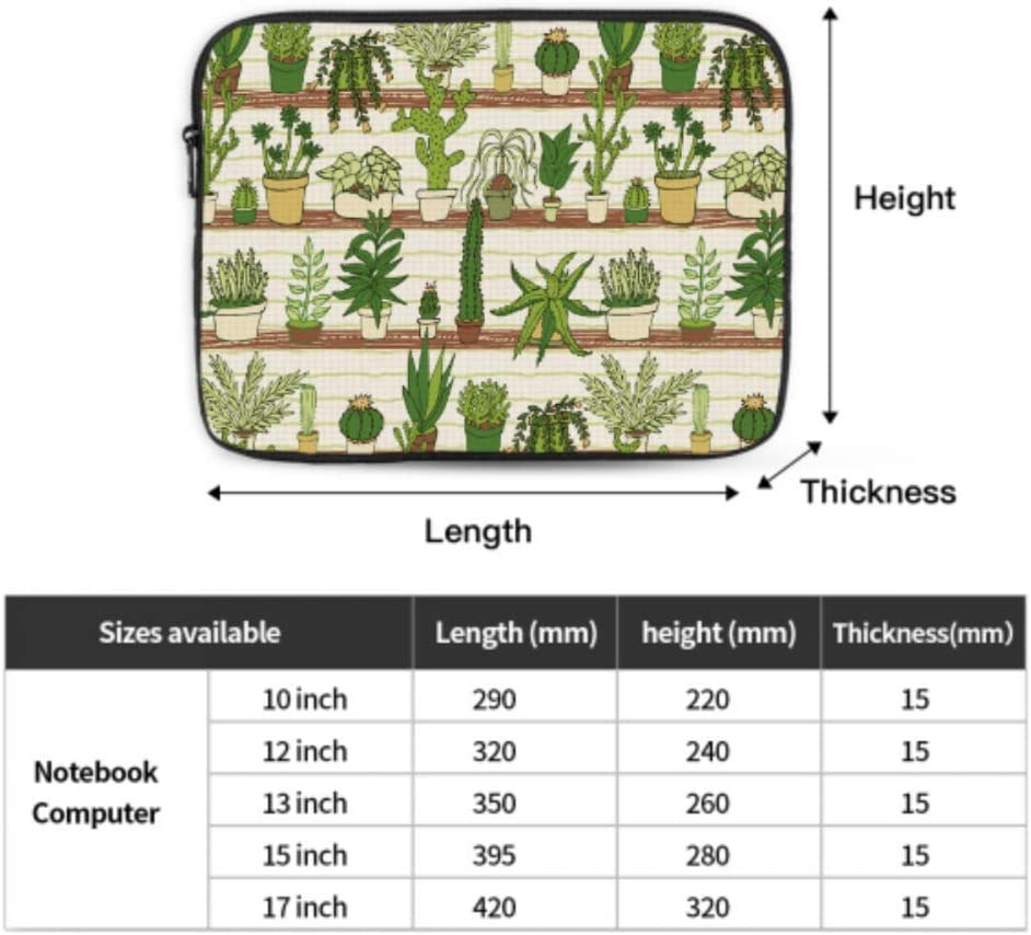 Mac Covers Cactus 13inch MacBook Air Case Multi-Color /& Size Choices/10//12//13//15//17 Inch Computer Tablet Briefcase Carrying Bag