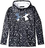 Under Armour Girls' Armour Fleece Big Logo Novelty Hoodie,Black /White, Youth X-Small