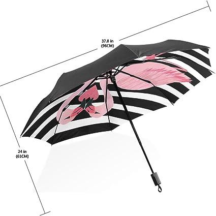 Anti-uv Sun Protection Umbrella Auto 3 Folding Parasols Rain Umbrella 50