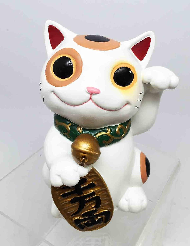 Japanese Lucky Charm Maneki Neko Calico Mao Mao Cat Figurine Gift and Decoration