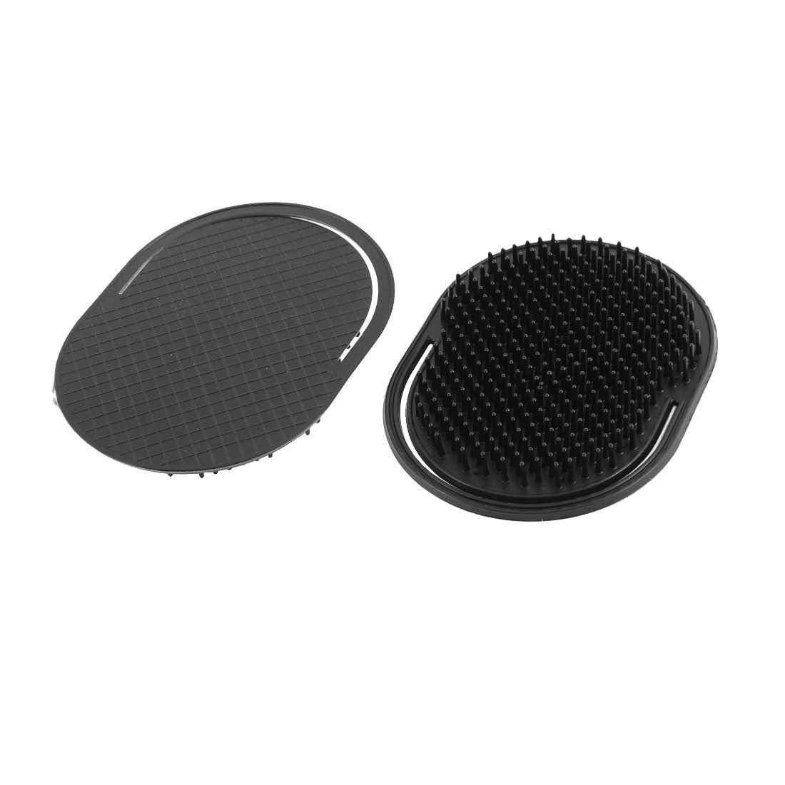 uxcell Plastic Oval Shaped Hair Palm Comb Scalp Massage Brush 2Pcs Black a15110600ux0319