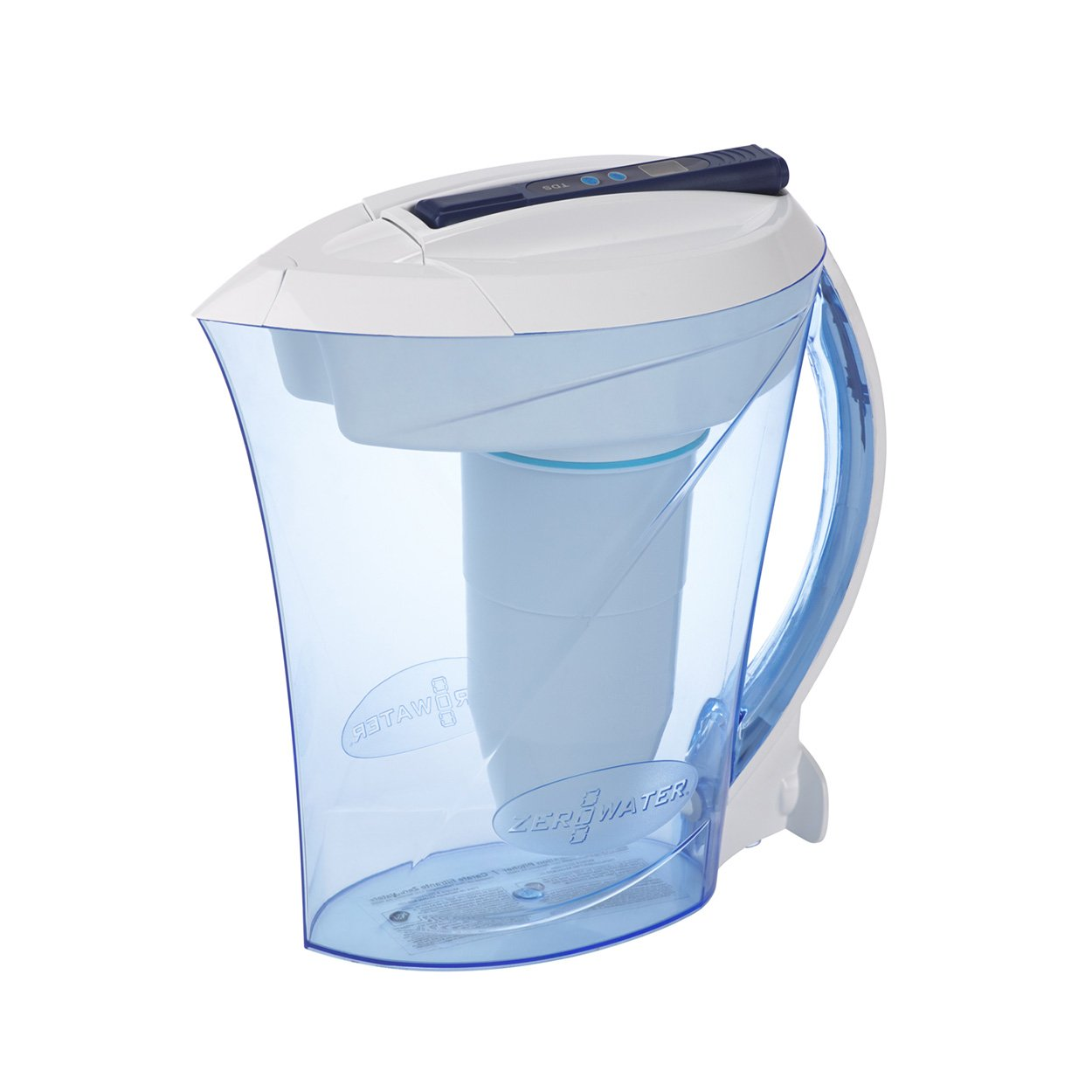 ZeroWater 10 Cup Water Filter Jug | Everyday Use Water Jug with 5 Stage Filtration System, Water Quality Meter and Water Filter Cartridge Included, 2.3 litres LEPKTSN10699
