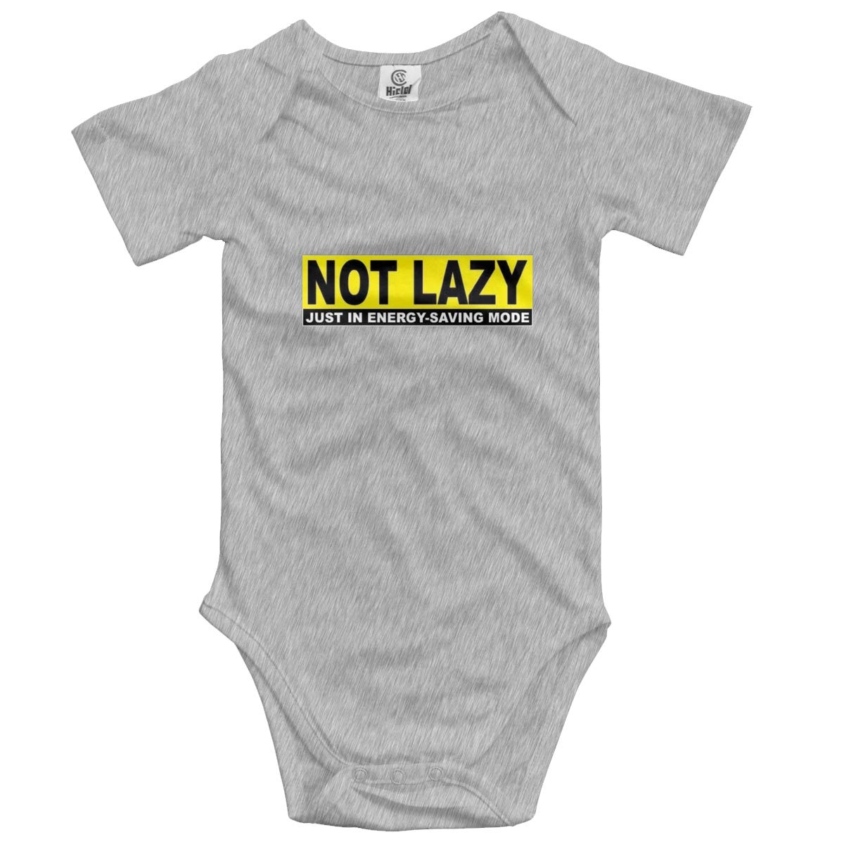 Not Lazy Sign Baby Romper 0-18 Months Newborn Baby Girls Boys Layette Rompers Black