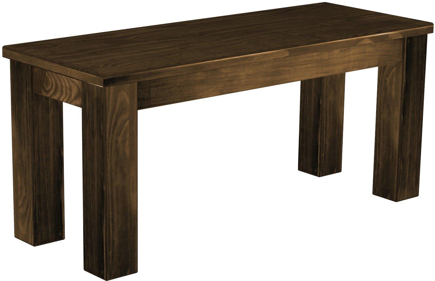 Brasilmöbel Sitzbank & 039;Rio Classico& 039; 100 cm, Pinie Massivholz, Farbton Eiche antik