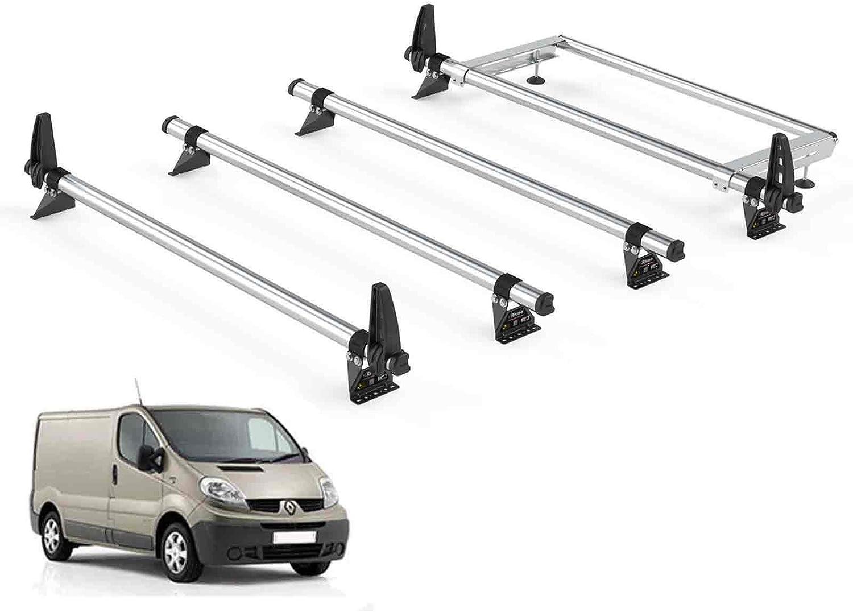 Renault Trafic Resistente Barras Portaequipajes de Techo 3-bars For 2001-2014