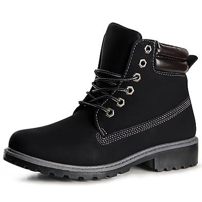 topschuhe24 1043 Damen Stiefeletten Worker Boots Booties, Farbe:Schwarz;Größe:37