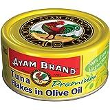 Ayam Brand Tuna Flakes in Olive Oil Premium | 100% Extra Virgin Olive Oil | Wild Caught Premium Tuna | Omega 3, Vitamin B6 & B12 | Halal & Healthier Choice | No Preservatives | Serves 3 People - 150g