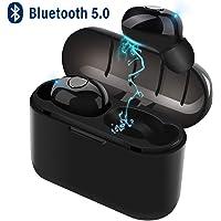 """TECHVIDA Audífonos Bluetooth Deportivos, """"Xi6-TWS"""" Auriculares Inalámbrico Bluetooth Mini Bluetooth Inalámbrico Deportivo Auricular Impermeable en el Oído Estéreo 5.0 Auricular Deportivo Cargador Magnético Binaural de Llamada con Caja de Carga para iPhone, Samsung, Sony, Motorola"""