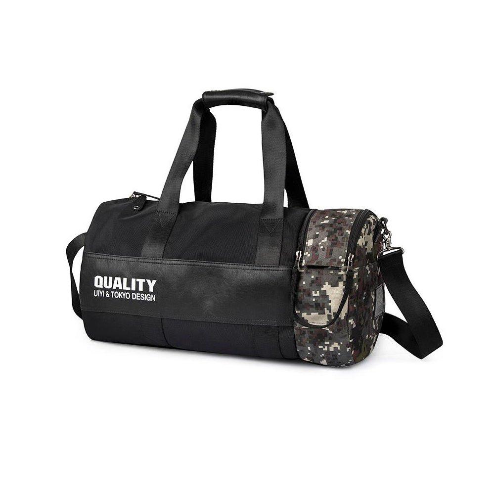 UIYI Brand MenBlack handbag Travel Bag Waterproof Leather Large Capacity Travel Duffle Multifunction Tote Casual Crossbody Bags-FOR SALE