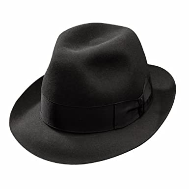 94287da01e026 Borsalino Francesco Fur Felt Fedora-Black at Amazon Men s Clothing ...