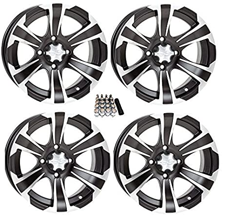 Amazon Com Itp Ss312 Atv Wheelsrims Black 14 Polaris Rzr 1000 Xp